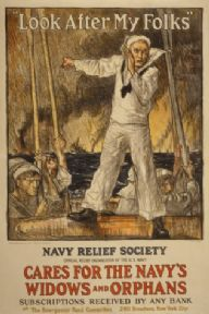"Vintage Navy Poster ""Look after my folks"""